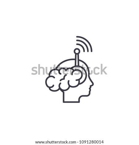 Individual perception linear icon concept. Individual perception line vector sign, symbol, illustration.