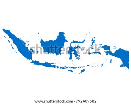 Indonesia map Sky Blue Tone vector isolated on white background vector EPS 10