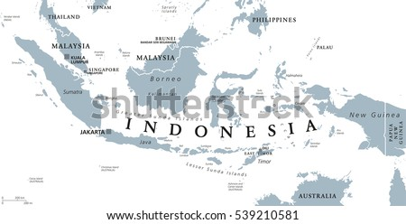 indonesia political map with