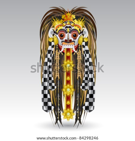 Indonesian Balinese spirits ghost Leak Traditional Bali Demon Mask