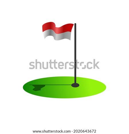 indonesian flag vector  17