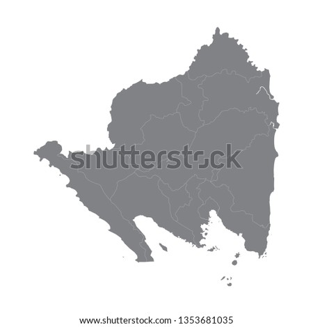 Indonesian province of Lampung map vector