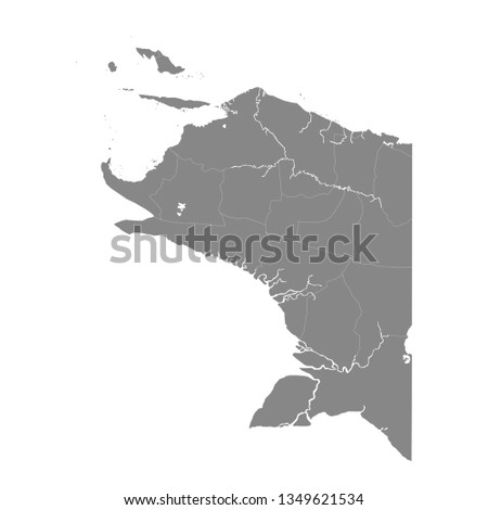 Indonesian province of Papua map vector