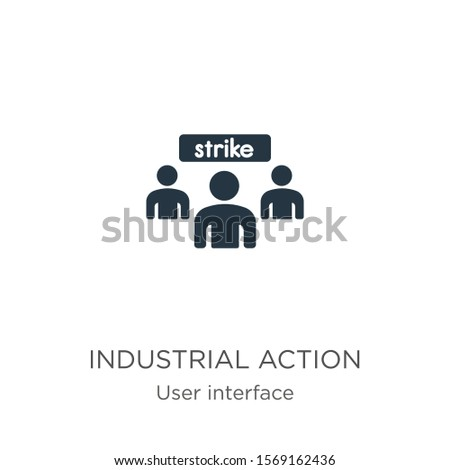 Industrial action icon vector. Trendy flat industrial action icon from user interface collection isolated on white background. Vector illustration can be used for web and mobile graphic design, logo,