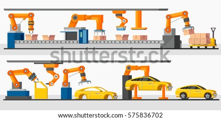 Construction Equipment Banners Diagram Banners