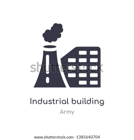 industrial building icon. isolated industrial building icon vector illustration from army collection. editable sing symbol can be use for web site and mobile app