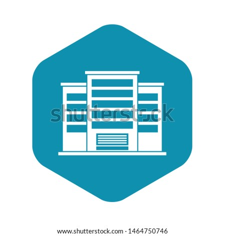 Industrial building icon. Simple illustration of industrial building vector icon for web