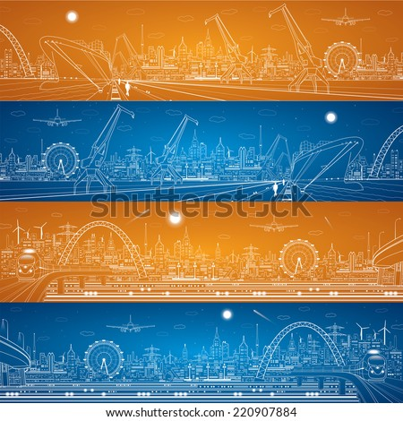 industrial cargo port and