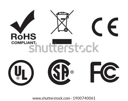 industrial certificate standard safety logo RoHS,Bin, CE, UL,CSA for design