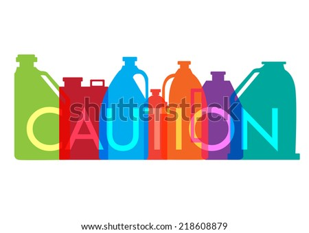 industrial chemical bottles and