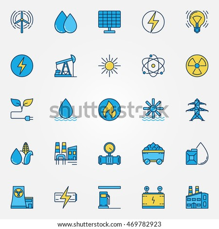 industrial colorful icons