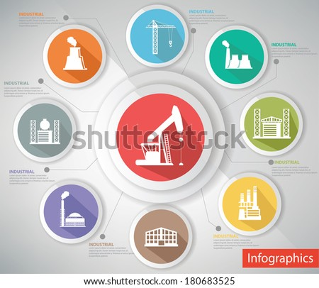 Industrial Concept,Infographics,Colorful version,vector