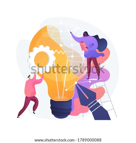 Industrial design abstract concept vector illustration. Product usability design, ergonomics development, concept, function and appearance engineering, improve mass production abstract metaphor. Stock photo ©