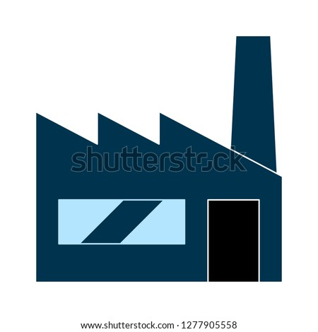 industrial factory icon - industrial building logo isolated, refinery illustration - Vector