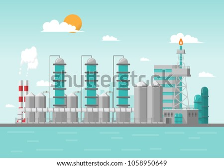 industrial factory in the sea