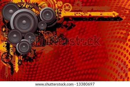 industrial funk - stock vector
