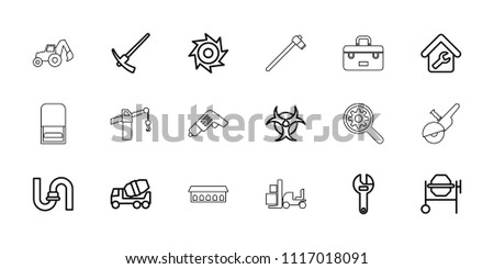 industrial icon collection of