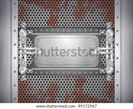 industrial iron background