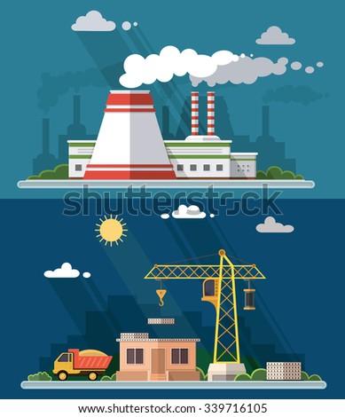 industrial landscape set the