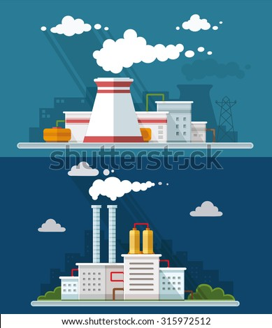 industrial landscape set the