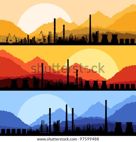 industrial oil refinery factory