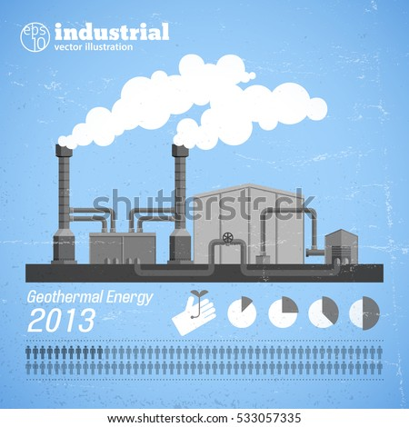 industrial plant template with...
