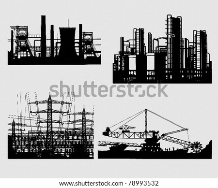 industrial silhouettes