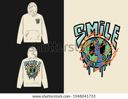 Industrial Streetwear Graphic Design illustration of earth