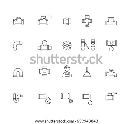 Industrial Tank water, Pipeline Parts. Pipe, Tank icons set,Vector