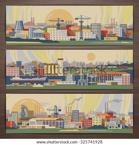 industrial theme vector banner
