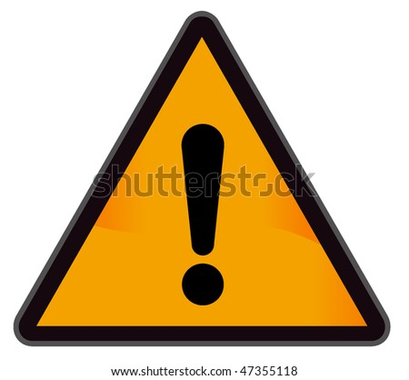 industrial warning signs alarm - stock vector