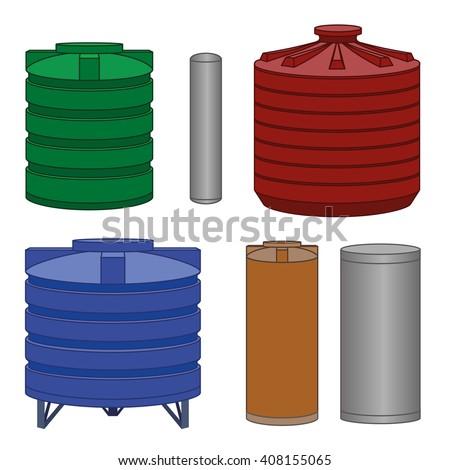 industrial water tanks set