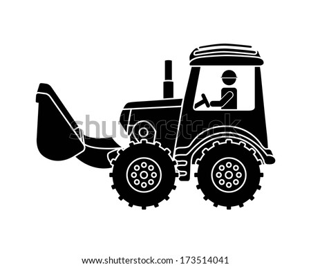 industrial workers over white background vector illustration