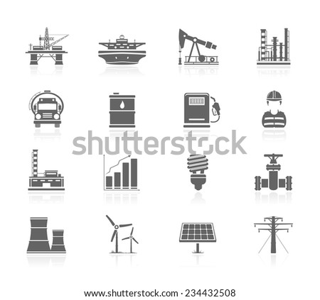 industry and energy icons
