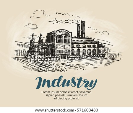 industry  factory sketch....