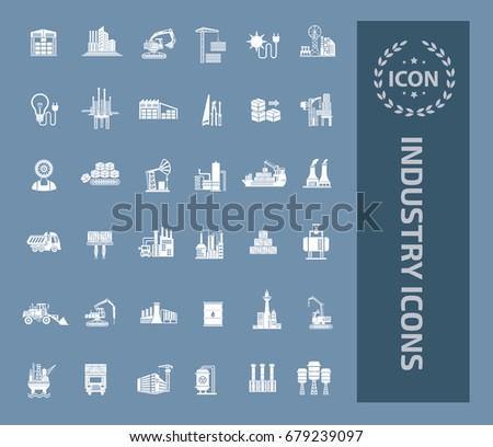 Industry icon set, vector