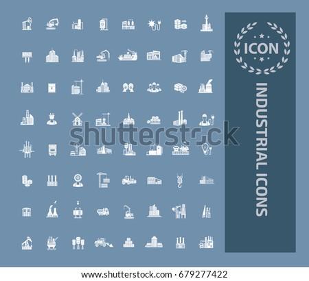 Industry icon set,vector
