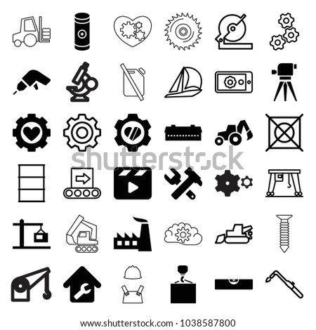 industry icons set of 36