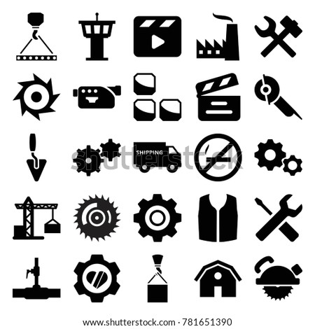 industry icons set of 25
