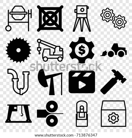 industry icons set set of 16