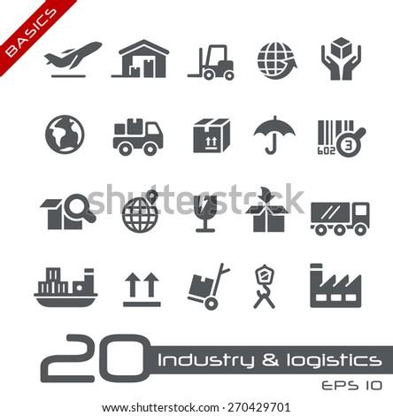 Industry & Logistics Icons // Basics