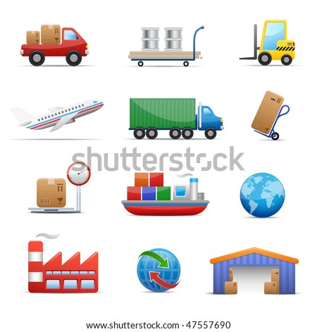 Industry & logistics Web Icon Set