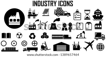 industry power factory vector icon.