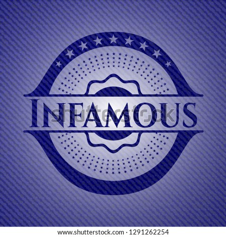 infamous badge with jean texture