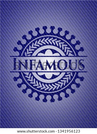 infamous denim background