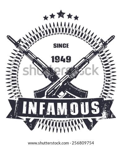 infamous since 1949 dark grunge