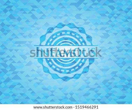 infamous sky blue emblem with