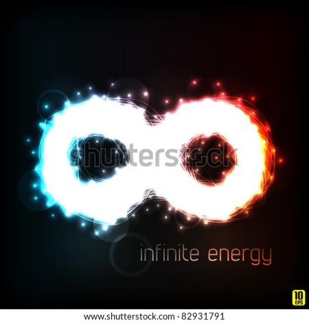 Infinite energy. Vector illustration (eps10).