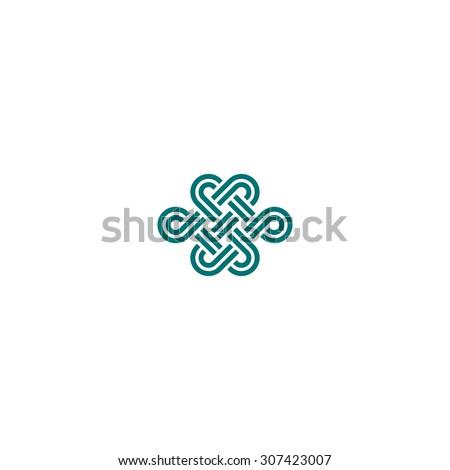 infinite knot on white