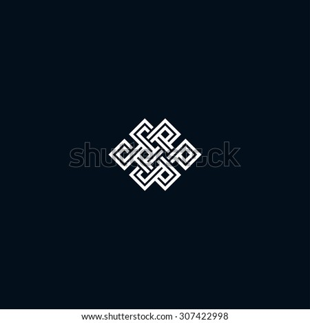 infinite knot symbol on black